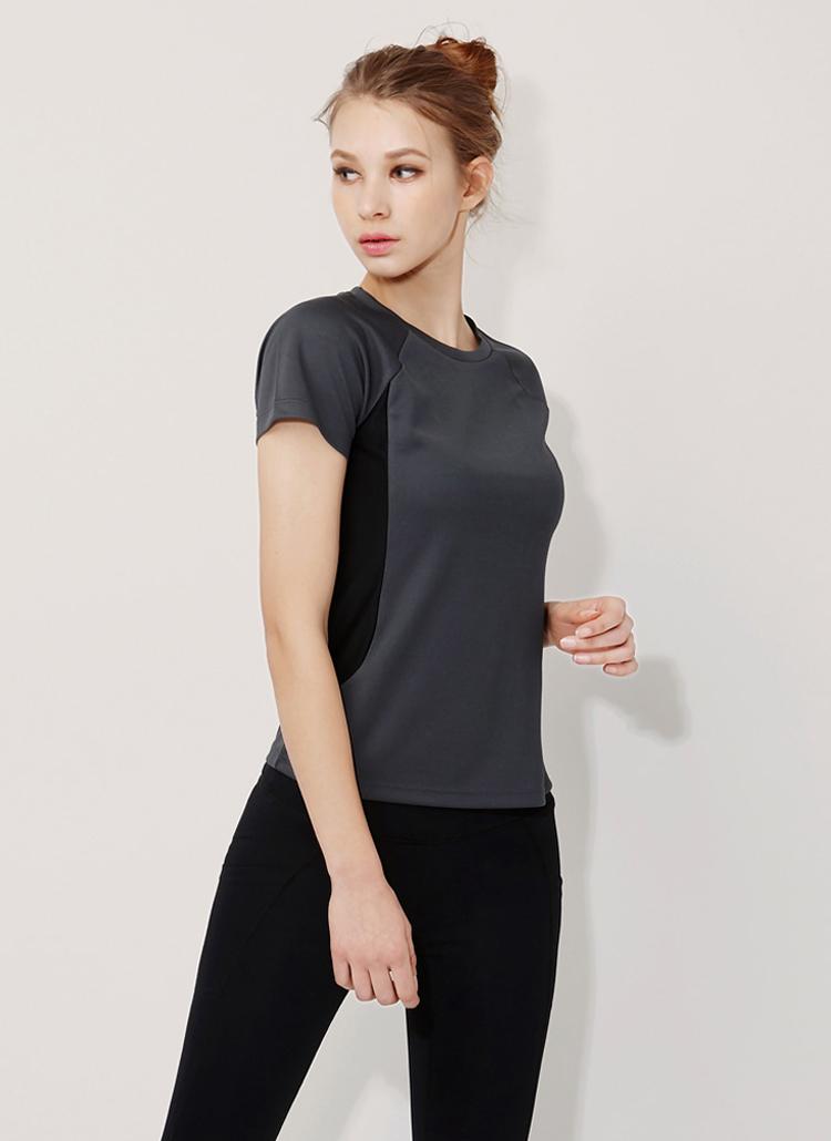 サイド配色ラグラン半袖Tシャツ(グレー)