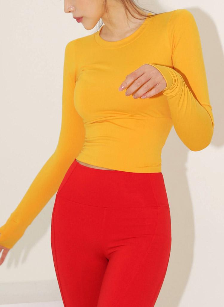 クロップドフィンガーホールTシャツ・全2色