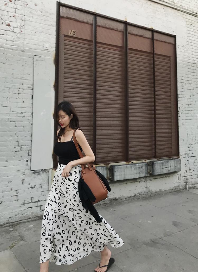 パターンフレアロング丈スカート