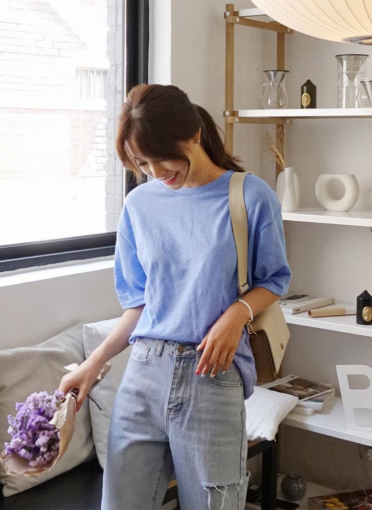 ライトカラールーズ半袖Tシャツ・全4色
