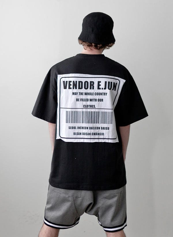 バーコードパッチポイントTシャツ