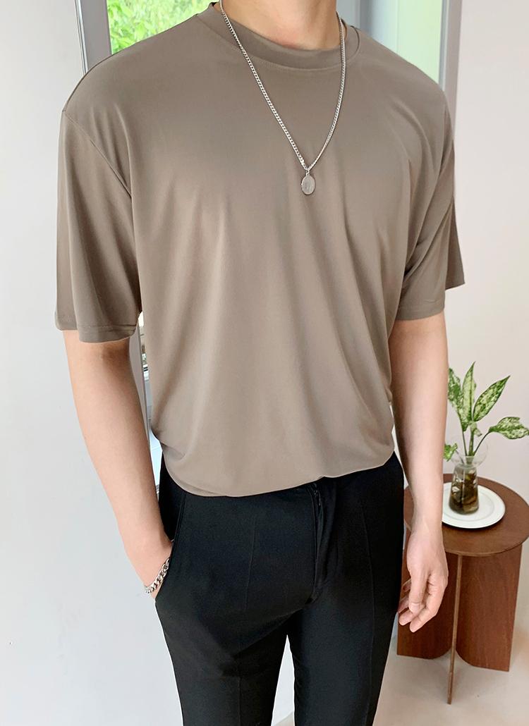 テンセルクール半袖Tシャツ