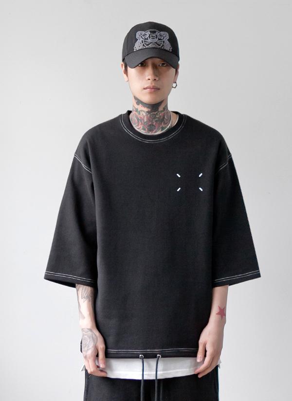 ドローストリングステッチTシャツ