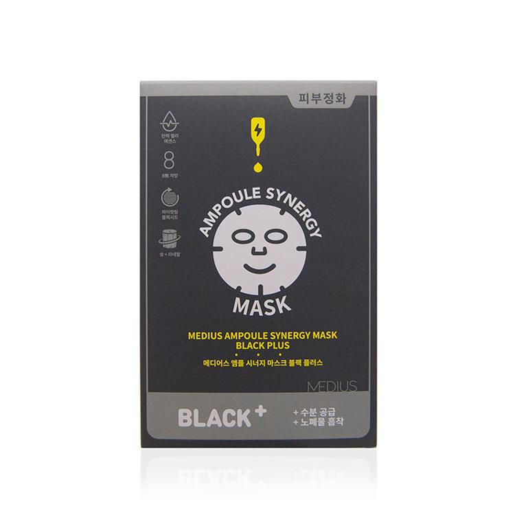 [メディアス]アンプルシナジーマスクブラックプラス