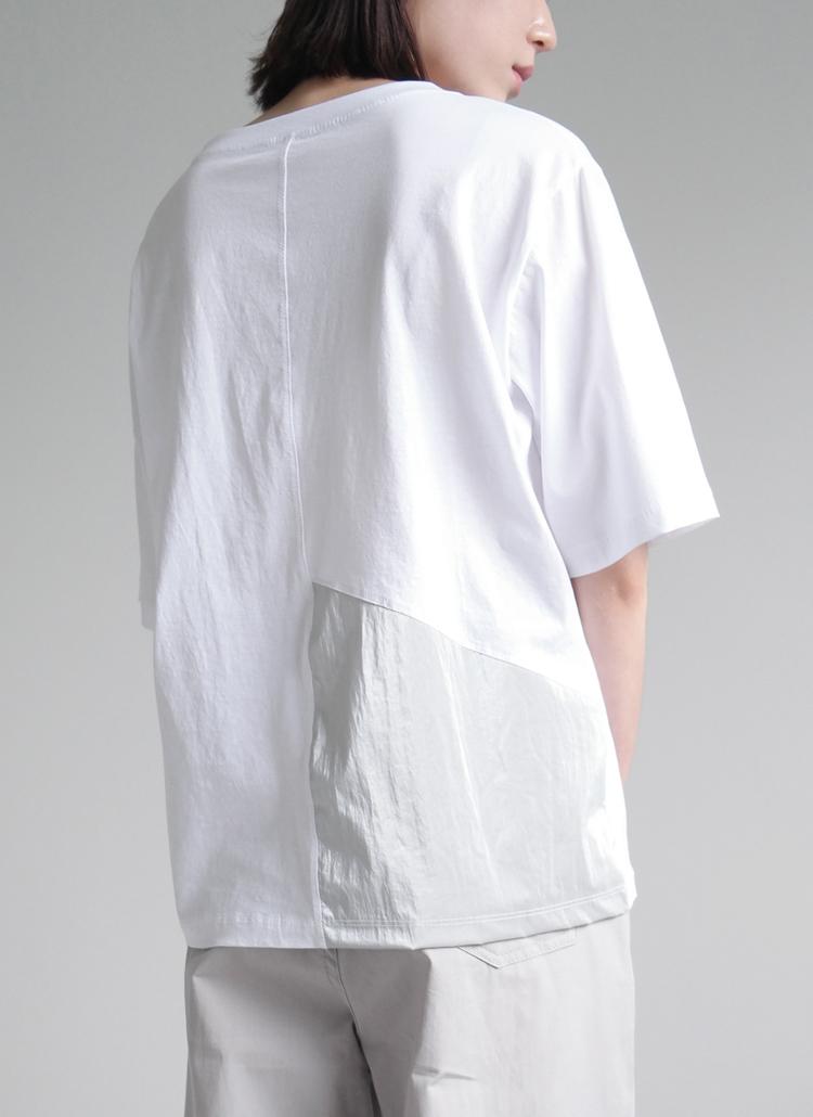 バックパネルコットンTシャツ