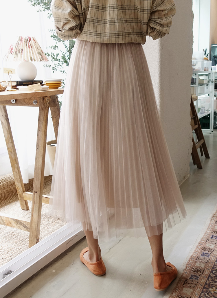 チュールプリーツスカート・全4色