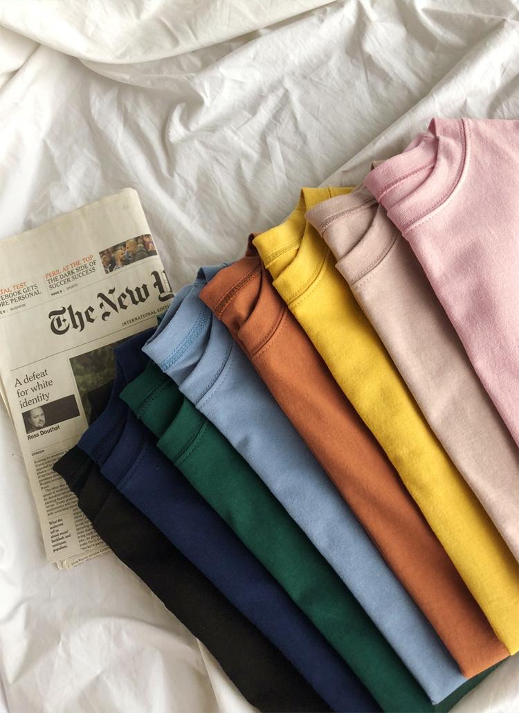 ラウンドネックTシャツ・全9色