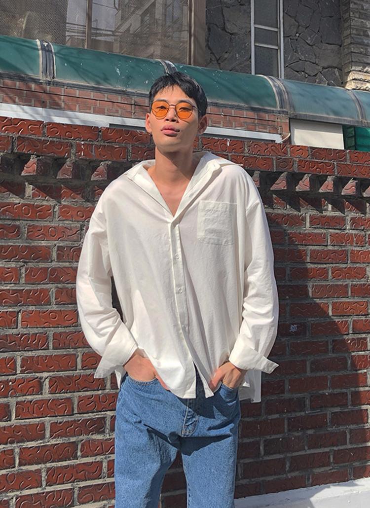 リネン混サマーシャツ