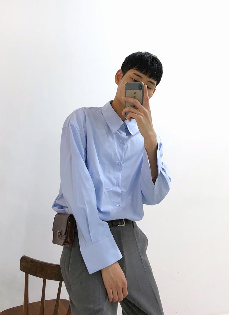 ミニマルカラーシャツ