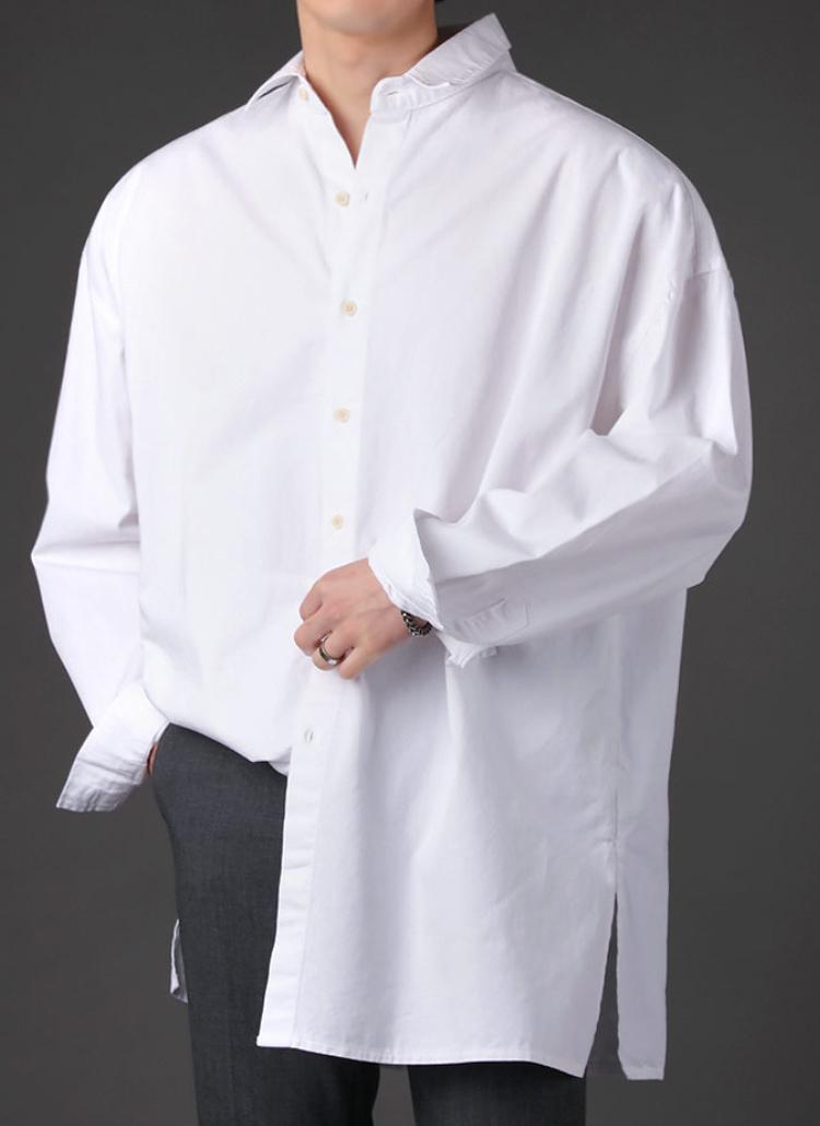 スリットヘムボクシーシャツ