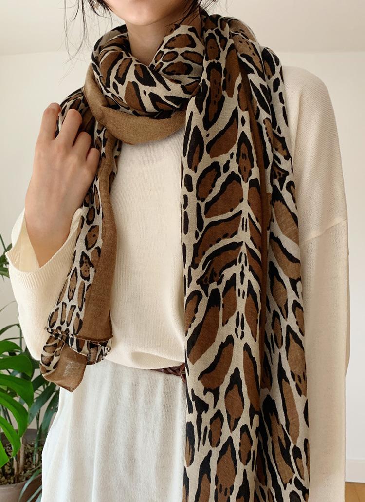 レオパード配色スカーフ・全3色