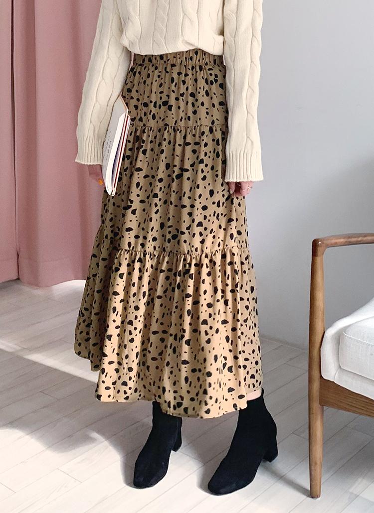 レオパードギャザースカート・全2色