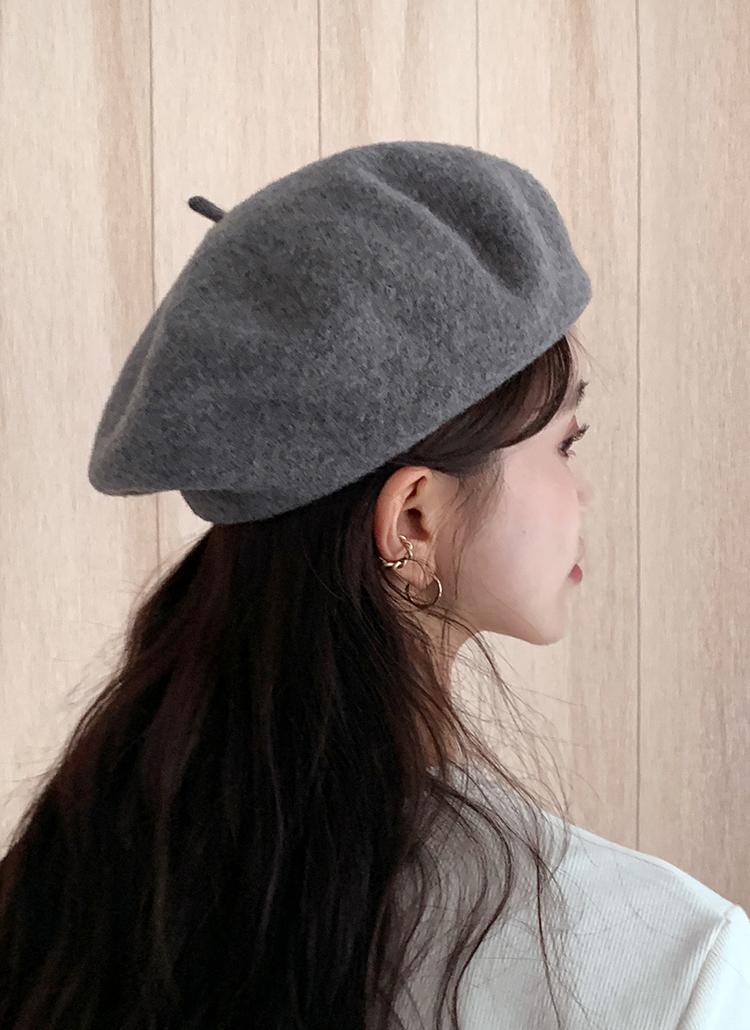 ウール混ベレー帽・全7色