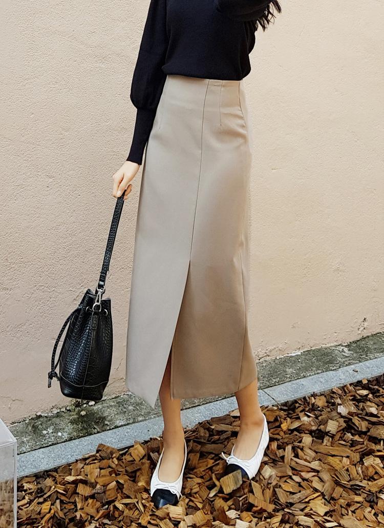 スリットHラインスカート・全4色
