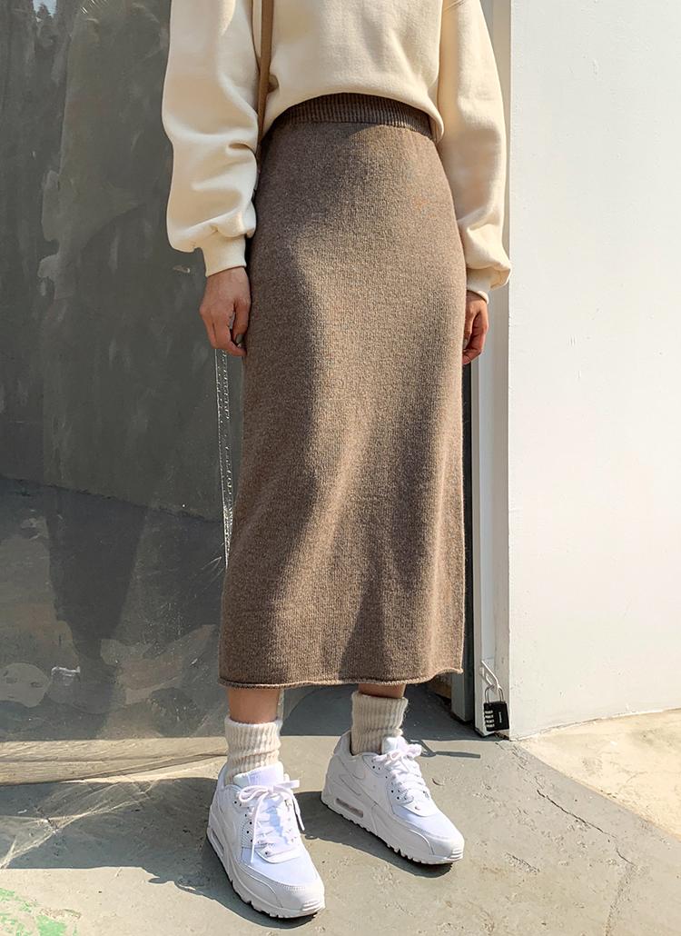 ニットHラインロングスカート・全4色
