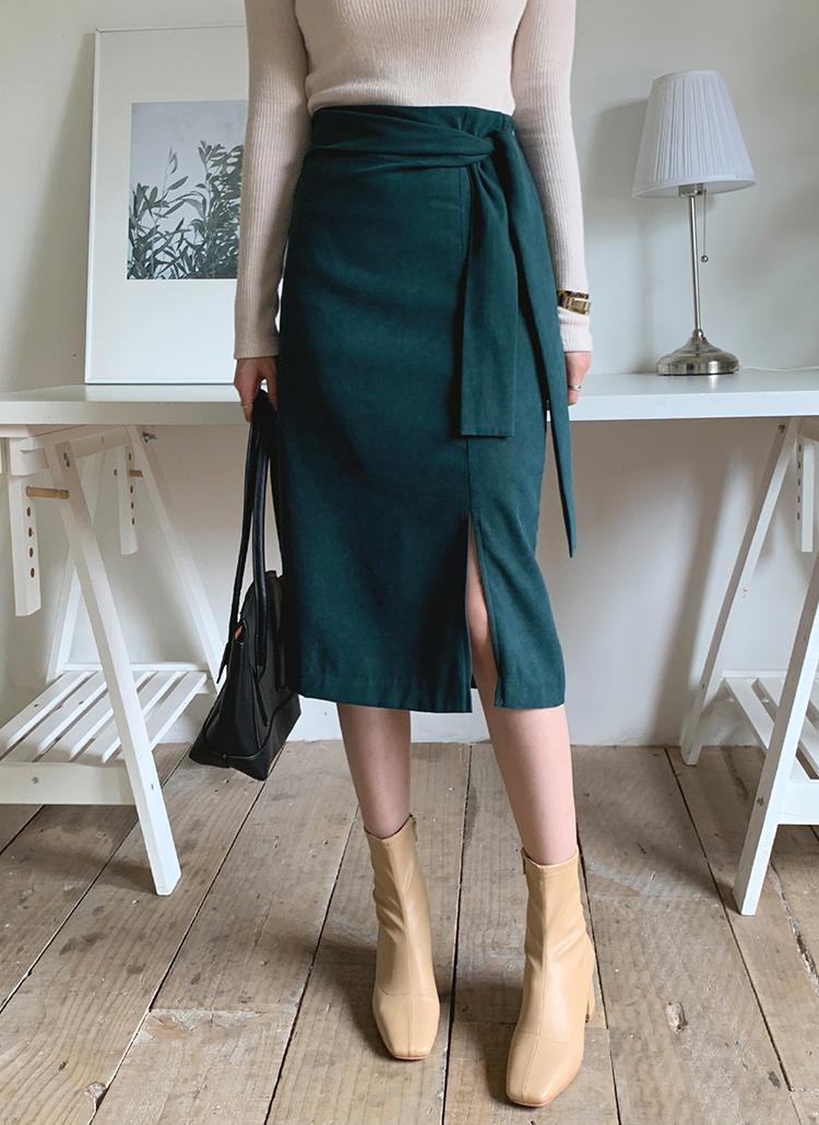 ウエストタイHラインスカート・全3色