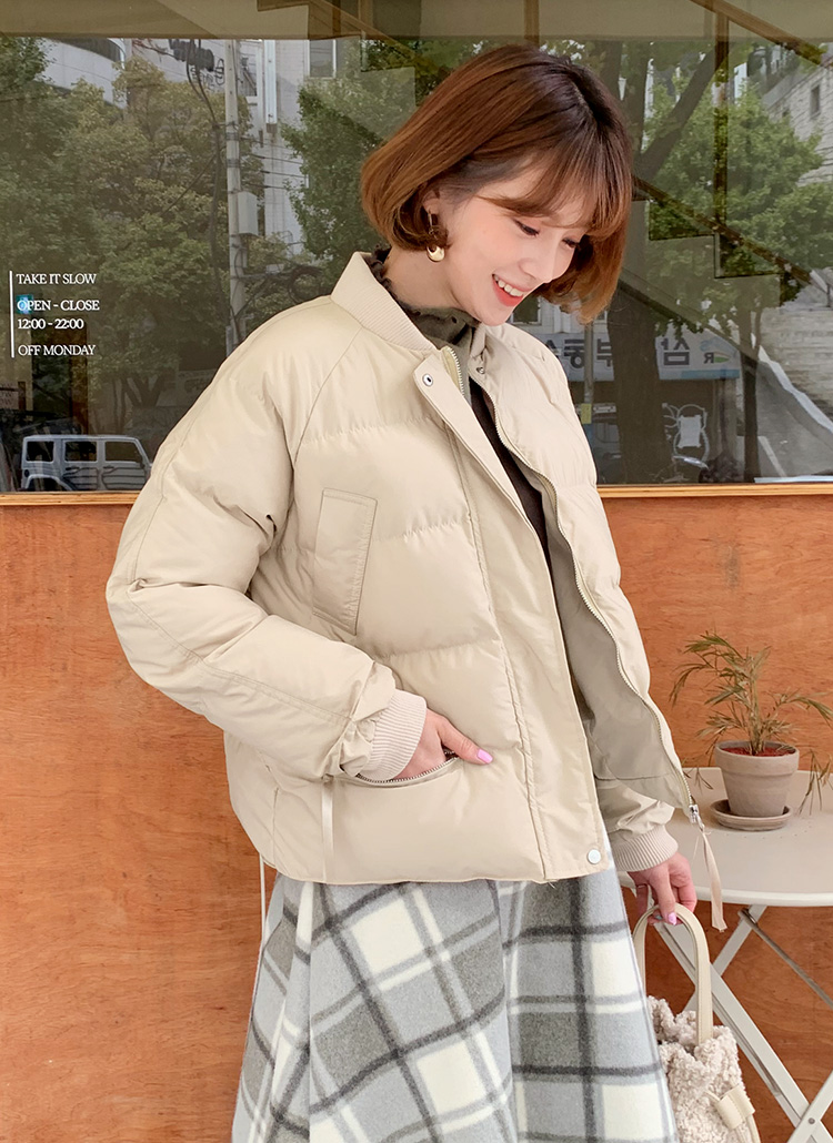 中綿ショートジャンパー・全3色