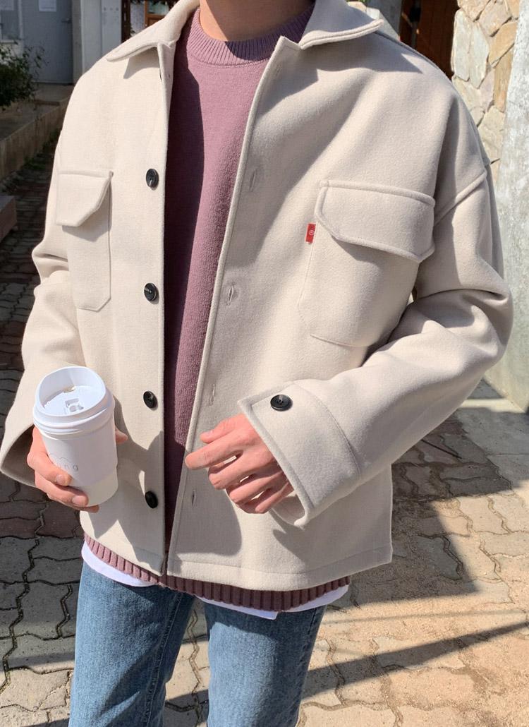 ウール混ポケットジャケット