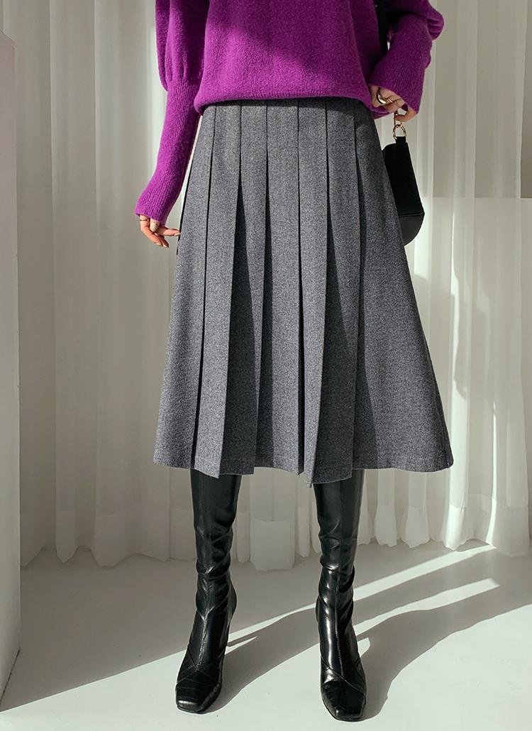 プリーツAラインスカート・全3色