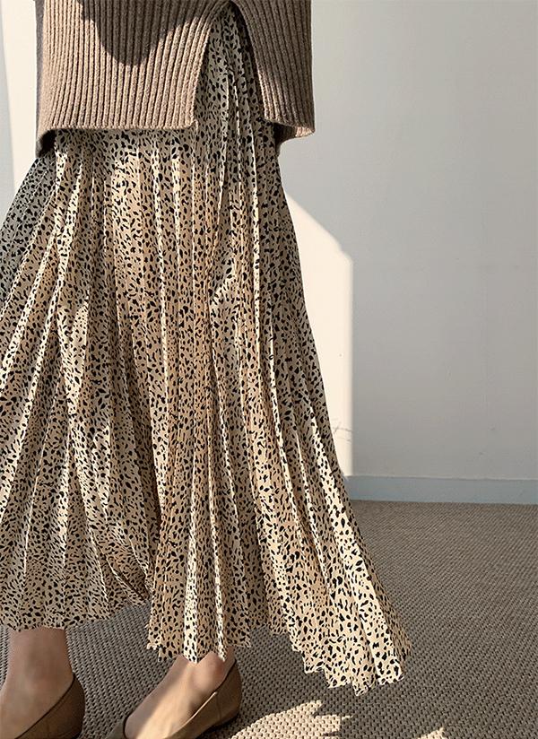 パターンプリーツロングスカート