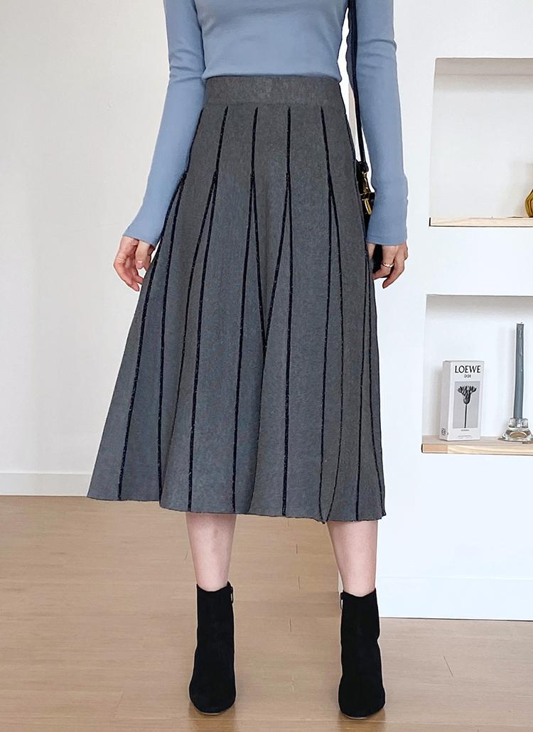 グリッターラインニットスカート・全2色