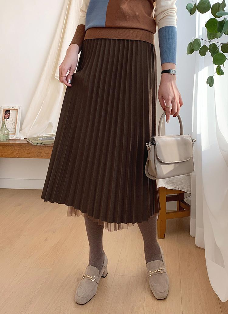 リバーシブルプリーツスカート・全3色