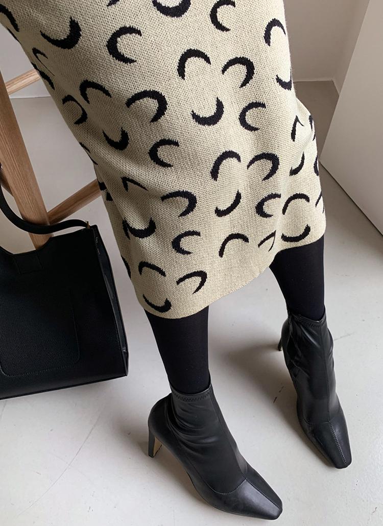 パターンニットスカート・全2色