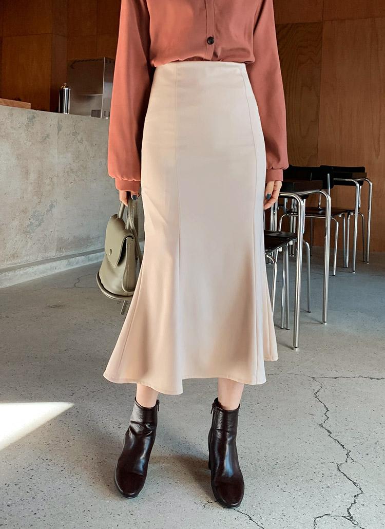 スリムマーメイドスカート・全4色