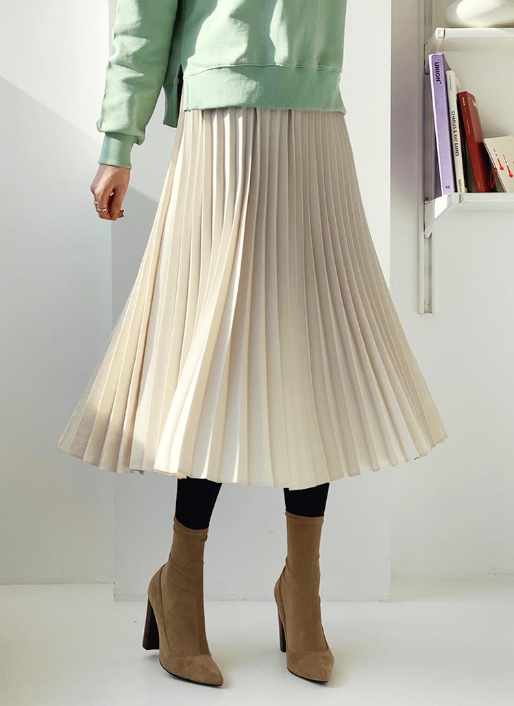 2WAYレースコントラストスカート・全2色