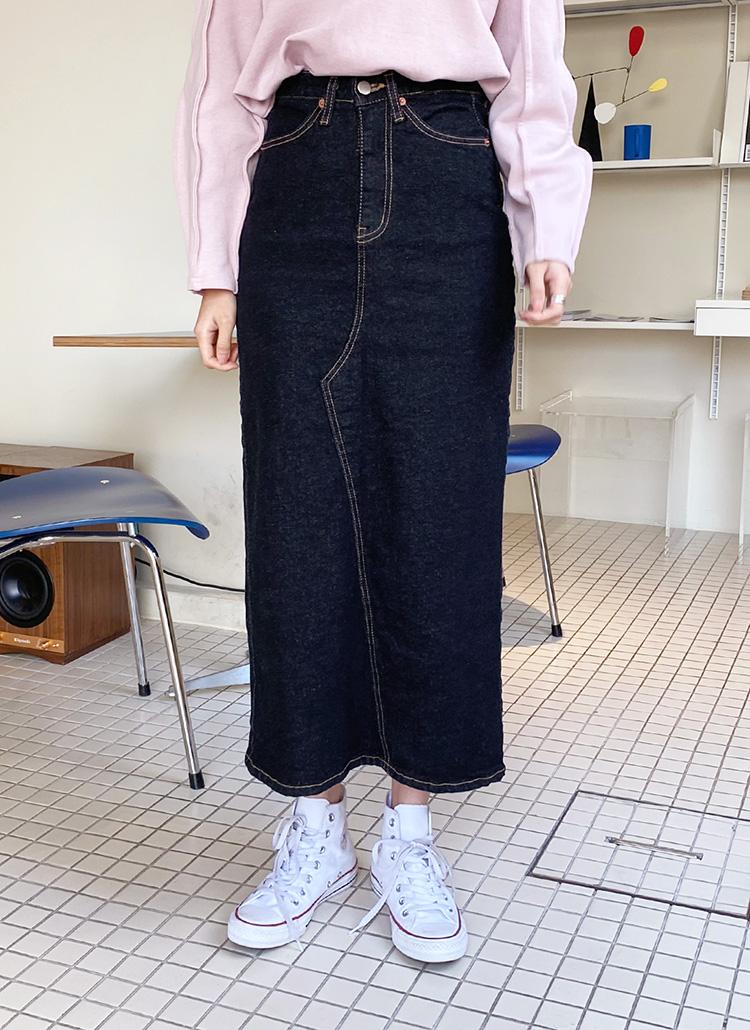 デニムスリットスカート・全1色