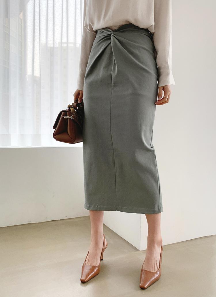 ツイストHラインスカート・全3色