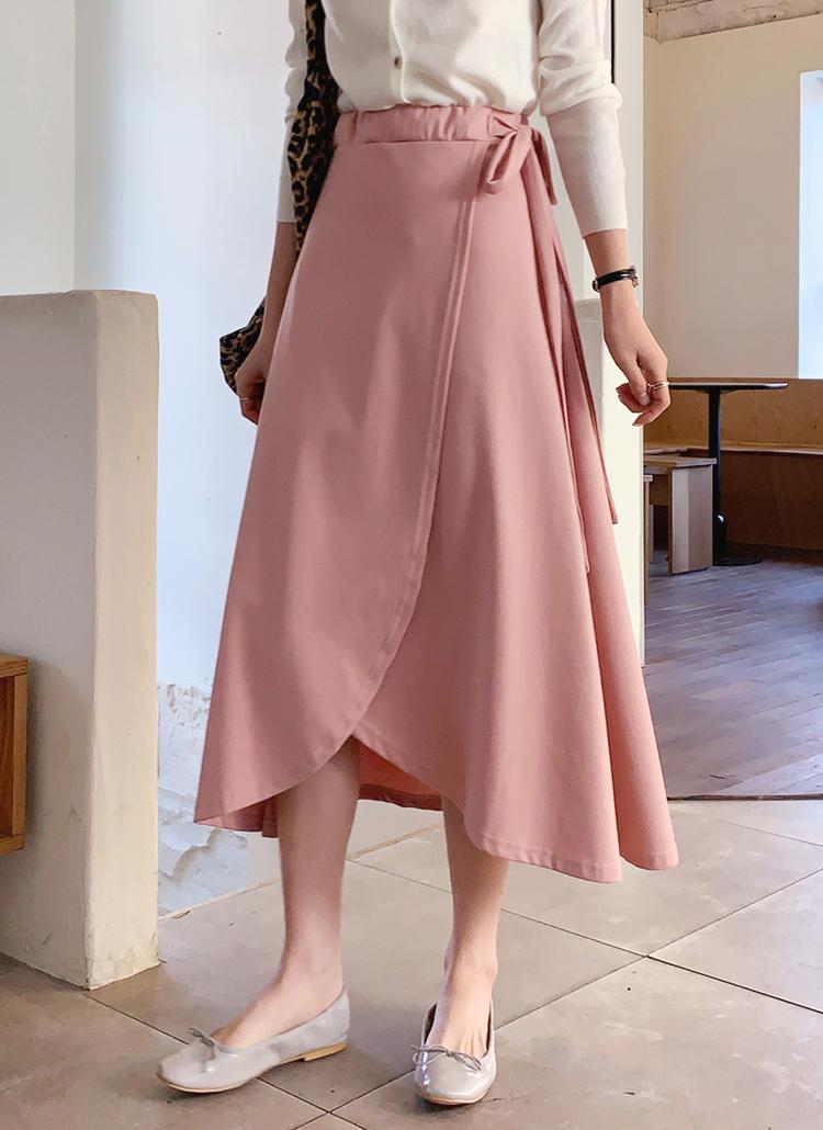 ラップ調フレアスカート・全3色