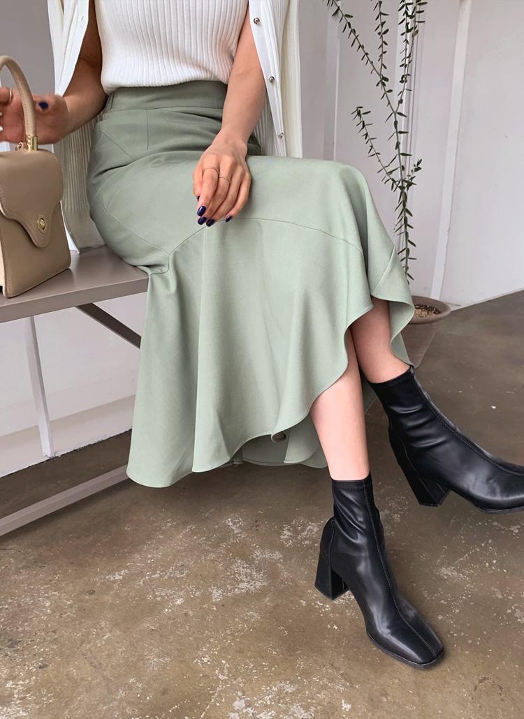 ラインマーメイドスカート・全3色