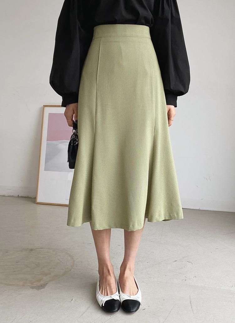 チェックマーメイドスカート・全2色