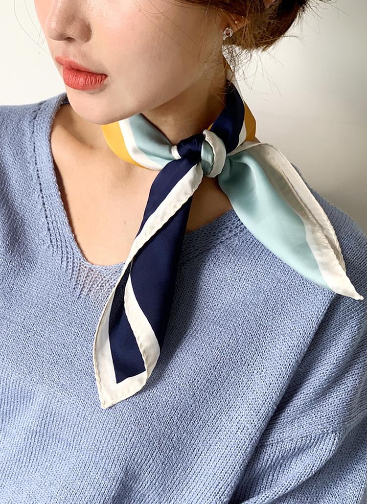 カラーコントラストスカーフ・全4色