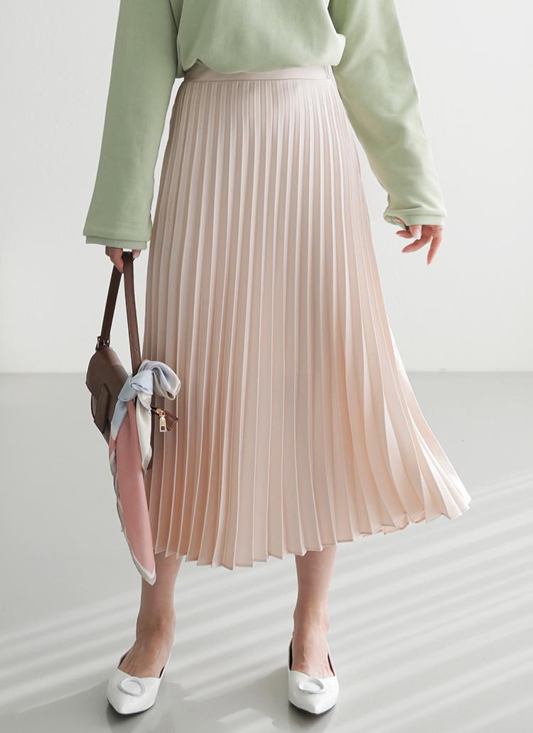 プリーツロングスカート・全6色