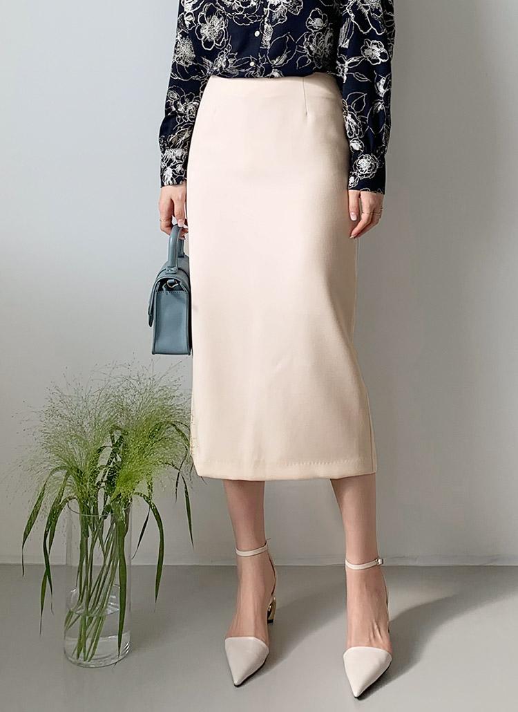 Hラインロングスカート・全3色