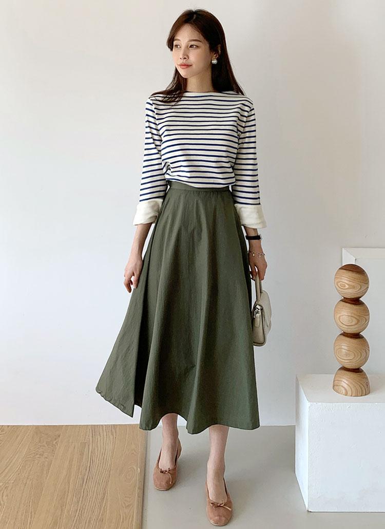 ロングフレアスカート・全3色