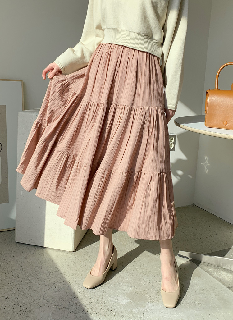 リンクルギャザースカート・全3色