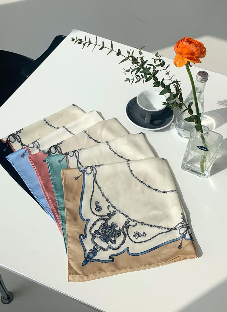 シルキーパターンスカーフ・全5色