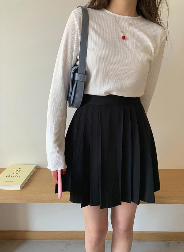プリーツミニスカート(ブラック)