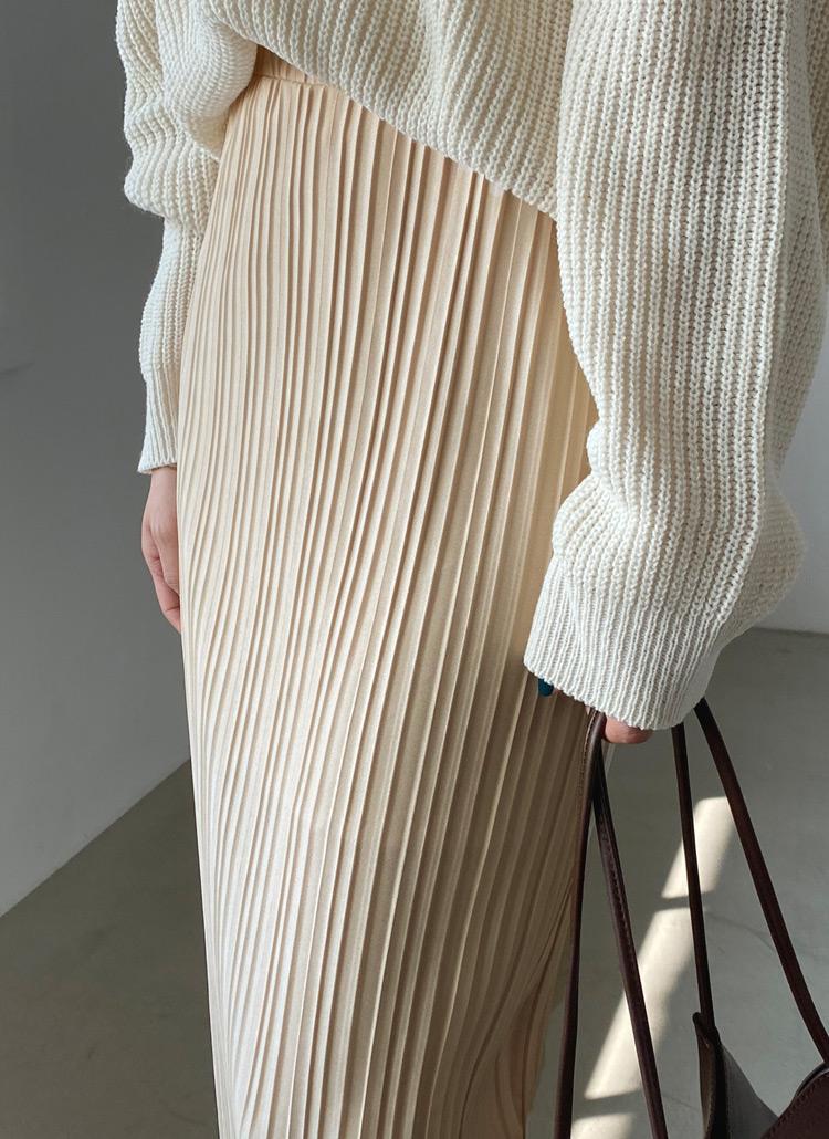 プリーツHラインスカート・全3色