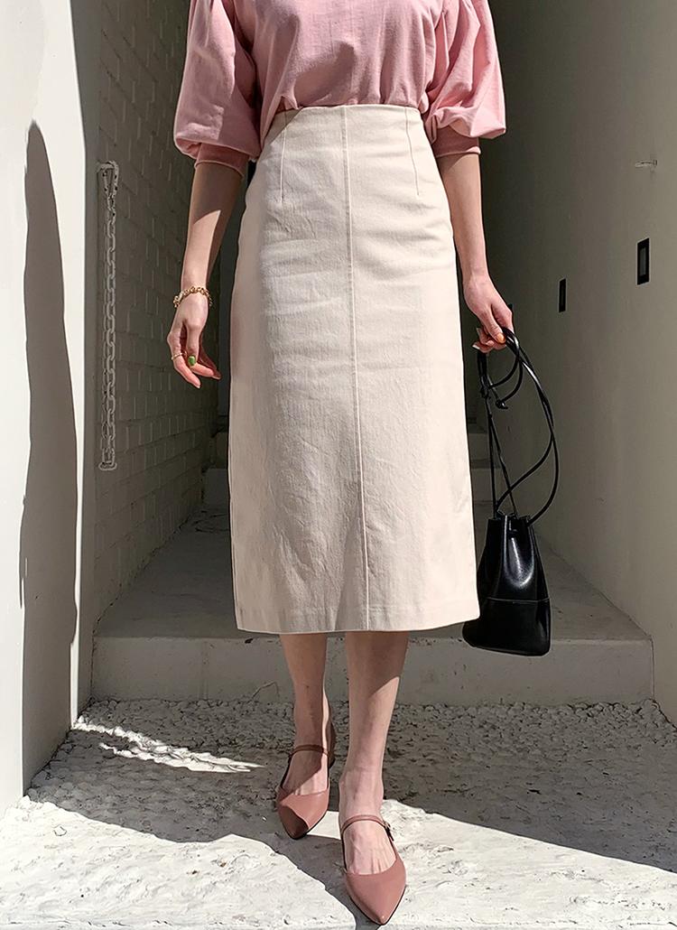 スリットAラインスカート・全3色
