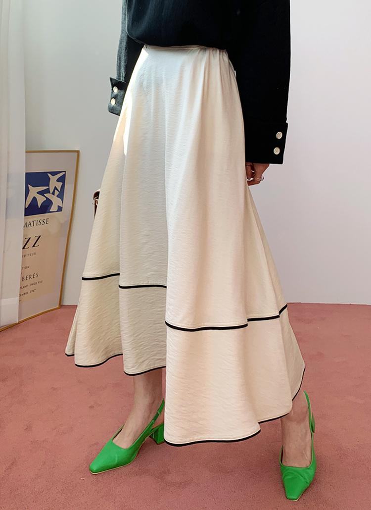 コントラストラインスカート・全2色