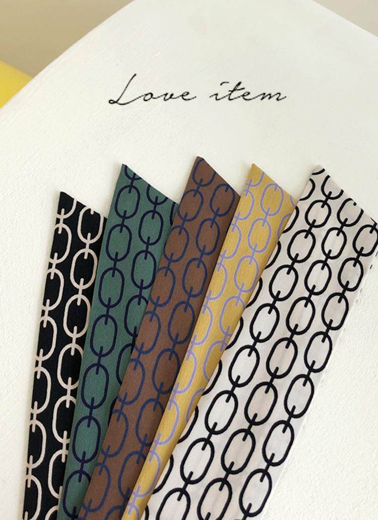チェーンパターンツイリースカーフ・全5色