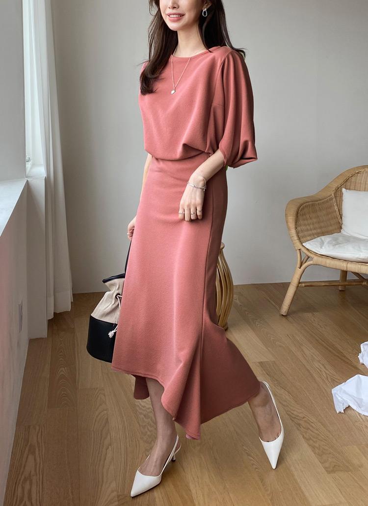 ドルマンTシャツ&スカートSET・全3色