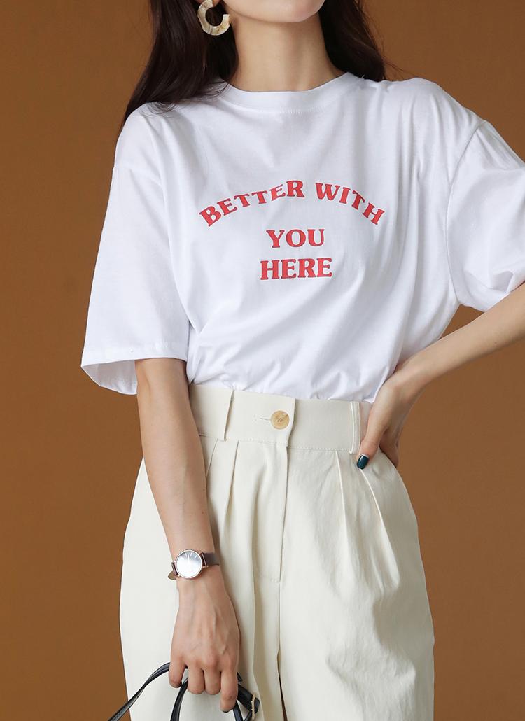 半袖レタリングTシャツ・全4色