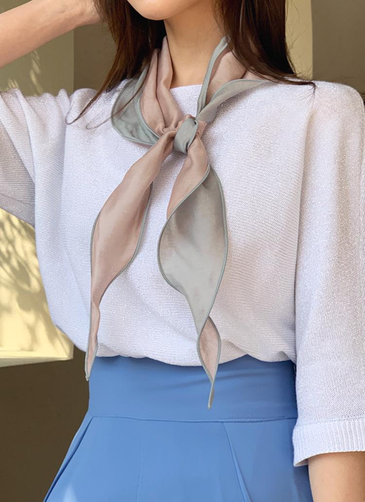ウェーブ配色スカーフ・全4色