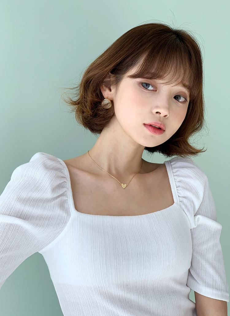 スクエアパフ半袖Tシャツ・全4色