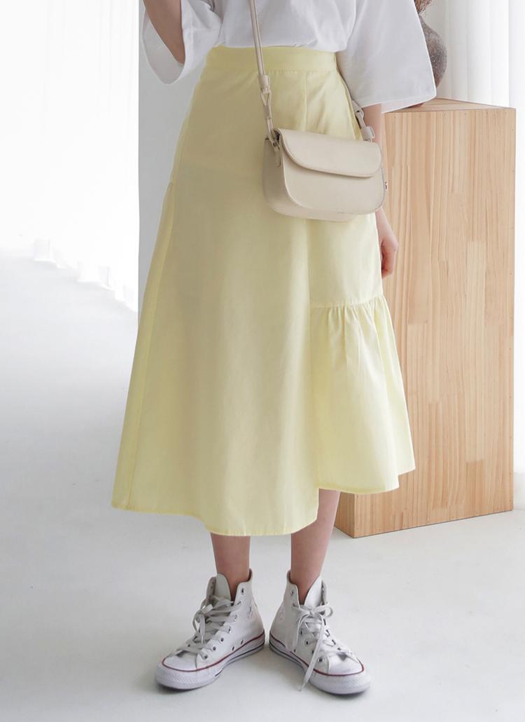 アンバランスギャザースカート・全3色